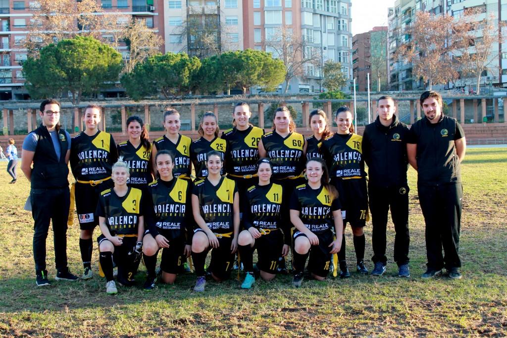 Equipo femenino Valencia Firebats Flag Footbal
